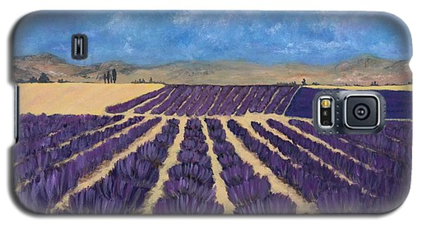 Galaxy S5 Case featuring the painting Lavender Field by Anastasiya Malakhova