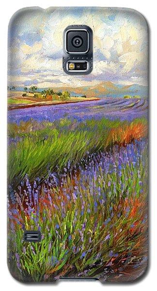 Lavender Field Galaxy S5 Case by David Stribbling