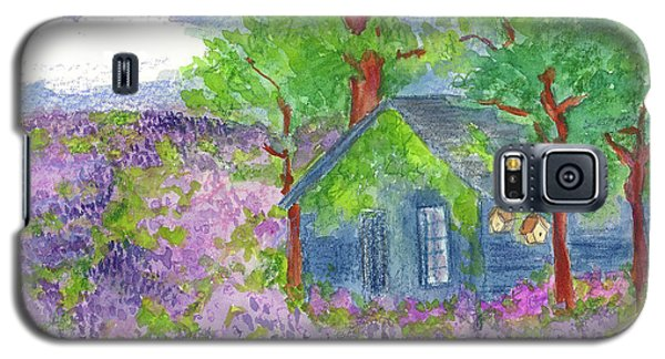 Galaxy S5 Case featuring the painting Lavender Fields by Cathie Richardson