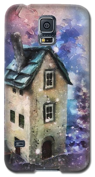 Galaxy S5 Case featuring the painting Lavender Hill by Mo T