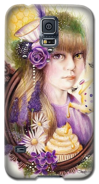 Galaxy S5 Case featuring the drawing Lavender Honey by Sheena Pike