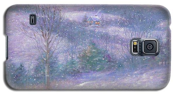 Lavender Impressionist Snowscape Galaxy S5 Case