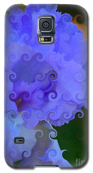 Lavender Curlicue Iris  Galaxy S5 Case