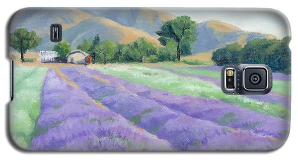 Lavender Lines Galaxy S5 Case