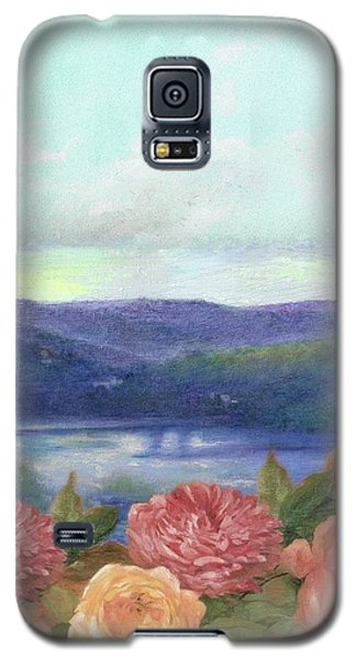 Lavender Morning With Roses Galaxy S5 Case