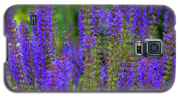Galaxy S5 Case featuring the digital art Lavender Patch by Chris Flees