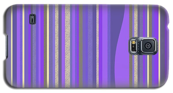 Galaxy S5 Case featuring the digital art Lavender Random Stripe Abstract by Val Arie