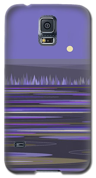 Galaxy S5 Case featuring the digital art Lavender Reflections by Val Arie