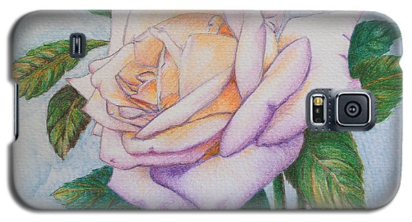 Galaxy S5 Case featuring the drawing Lavender Rose by Marna Edwards Flavell