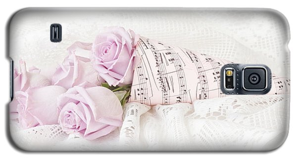 Lavender Roses And Music Galaxy S5 Case