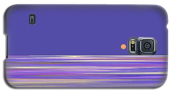Galaxy S5 Case featuring the digital art Lavender Sea by Val Arie