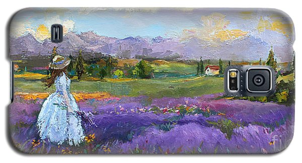 Galaxy S5 Case featuring the painting Lavender Splendor  by Jennifer Beaudet