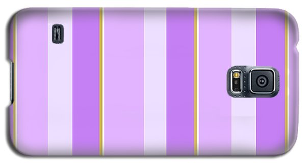 Galaxy S5 Case featuring the mixed media Lavender Stripe Pattern by Christina Rollo
