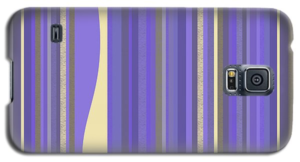 Galaxy S5 Case featuring the digital art Lavender Twilight - Stripes by Val Arie