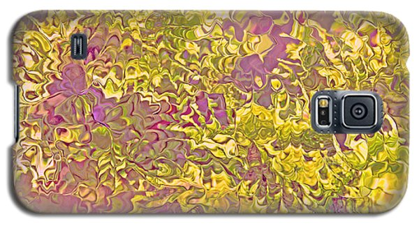 Lavender Yellow Abstract Galaxy S5 Case