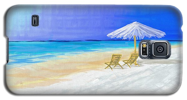 Lawn Chairs In Paradise Galaxy S5 Case by Jeremy Aiyadurai