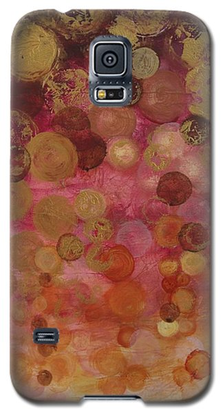 Layers Of Circles On Red Galaxy S5 Case