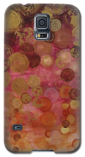 Layers Of Circles On Red Galaxy S5 Case by Kristen Abrahamson