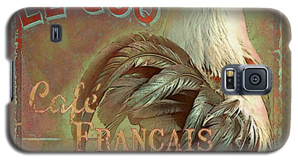 Galaxy S5 Case featuring the digital art Le Coq - Cafe Francais by Jeff Burgess