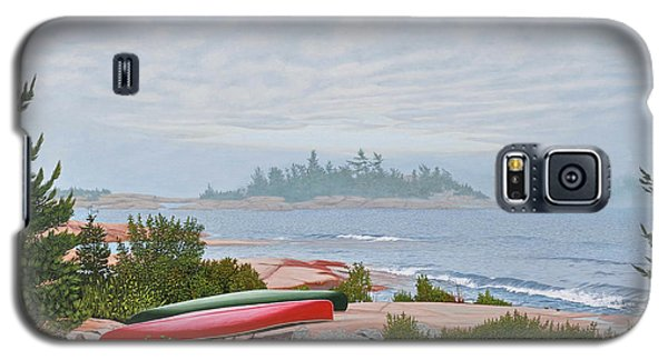 Galaxy S5 Case featuring the painting Le Hayes Island by Kenneth M Kirsch