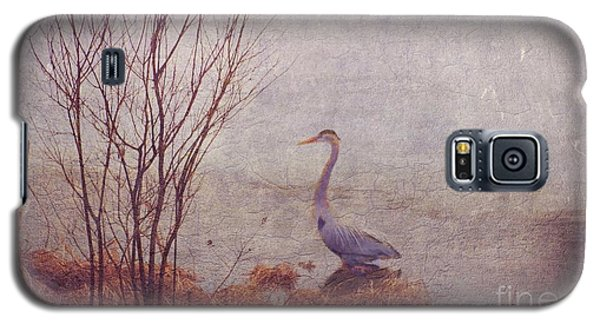 Galaxy S5 Case featuring the photograph Le Retour De Mon Heron by Aimelle