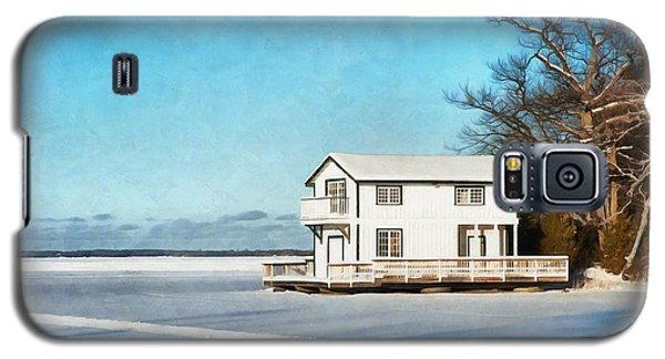 Leacock Boathouse In Winter Galaxy S5 Case