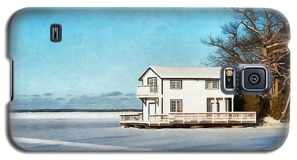 Leacock Boathouse In Winter Galaxy S5 Case
