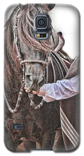 Leading To Competition Peruvian Horse Galaxy S5 Case by Toni Hopper