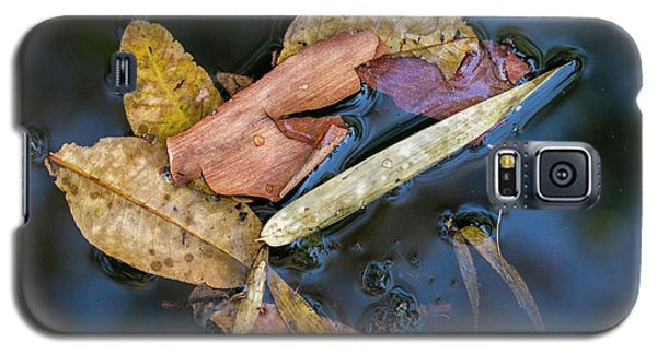 Galaxy S5 Case featuring the photograph Leaf Litter In Pond, Navegaon, 2011 by Hitendra SINKAR