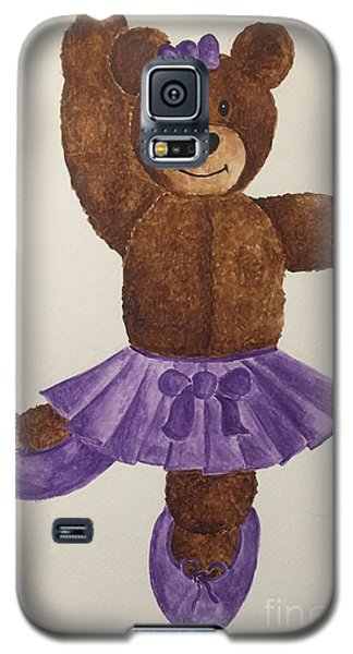 Galaxy S5 Case featuring the painting Leah's Ballerina Bear 1 by Tamir Barkan