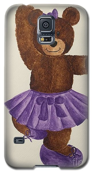 Galaxy S5 Case featuring the painting Leah's Ballerina Bear 2 by Tamir Barkan