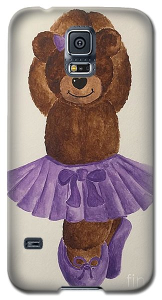 Galaxy S5 Case featuring the painting Leah's Ballerina Bear 3 by Tamir Barkan