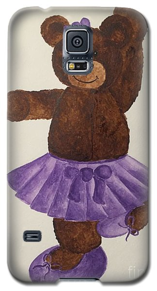 Galaxy S5 Case featuring the painting Leah's Ballerina Bear 4 by Tamir Barkan