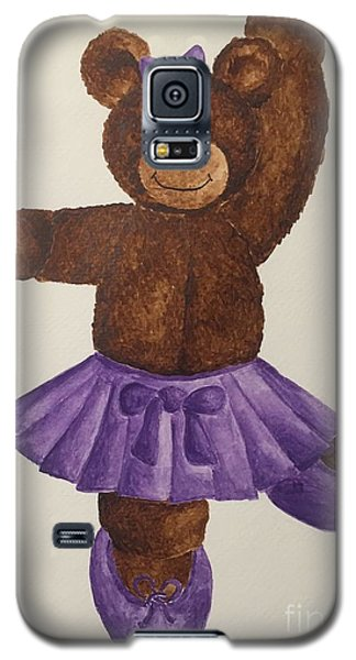 Galaxy S5 Case featuring the painting Leah's Ballerina Bear 5 by Tamir Barkan