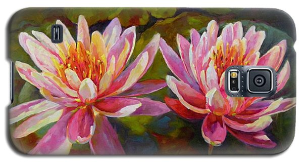 Galaxy S5 Case featuring the painting Lean On Me by Chris Brandley