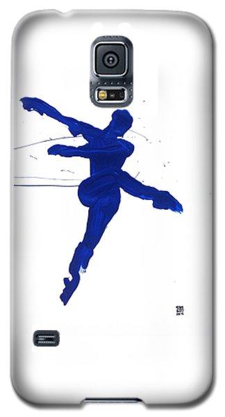 Leap Brush Blue 1 Galaxy S5 Case by Shungaboy X