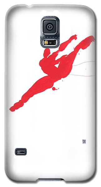 Leap Brush Red 3 Galaxy S5 Case by Shungaboy X