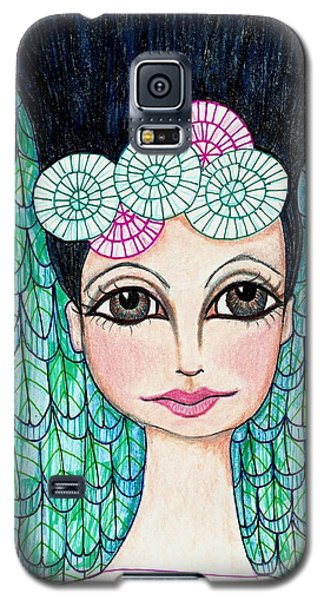 Galaxy S5 Case featuring the mixed media Leap Of Faith by Lisa Noneman