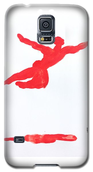 Galaxy S5 Case featuring the painting Leap Water Vermillion by Shungaboy X
