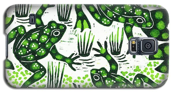 Leaping Frogs Galaxy S5 Case by Nat Morley
