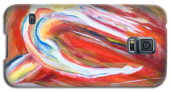 Galaxy S5 Case featuring the painting Leaping With Joy by Anya Heller