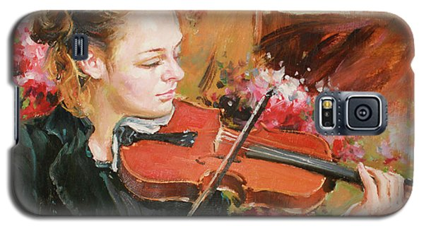 Violin Galaxy S5 Case - Learning The Violin by Conor McGuire