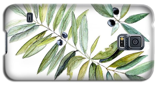 Leaves And Berries Galaxy S5 Case