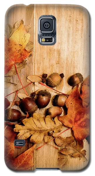 Galaxy S5 Case featuring the photograph Leaves And Nuts 2 by Rebecca Cozart