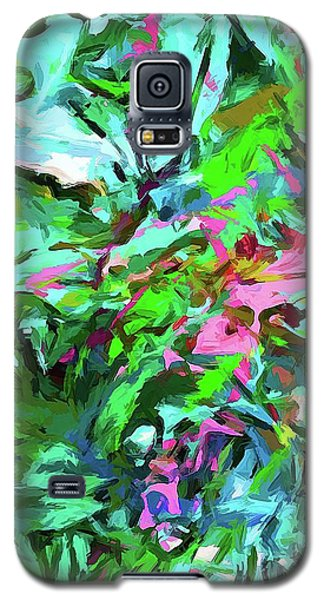 Leaves Buds Green Pink Galaxy S5 Case