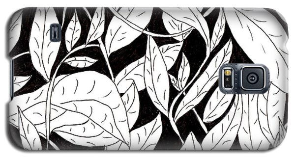 Galaxy S5 Case featuring the drawing Leaves by Lou Belcher
