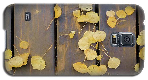 Leaves On Planks Galaxy S5 Case