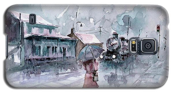 Galaxy S5 Case featuring the painting Leaving... by Faruk Koksal