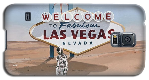 Galaxy S5 Case featuring the painting Leaving Las Vegas by Scott Listfield