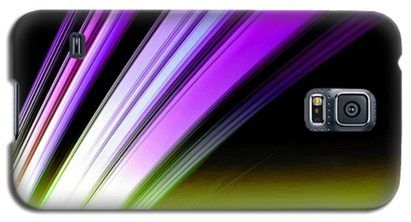 Leaving Saturn In Purple And Electric Green Galaxy S5 Case